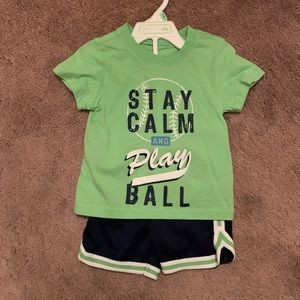 FIRST IMPRESSIONS Boys Baseball Top/Shorts Set